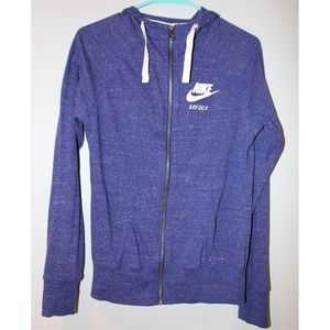 Purple Nike Full Zip Hoodie - Small